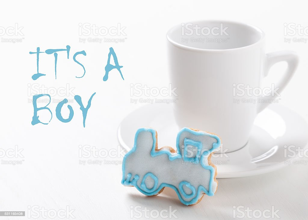 symbol - mother waiting baby - boy stock photo