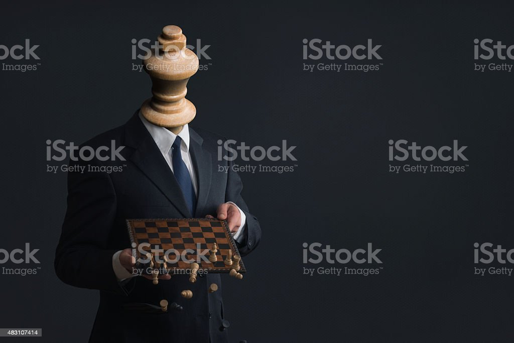 Symbol of a businessman who fires his staff stock photo