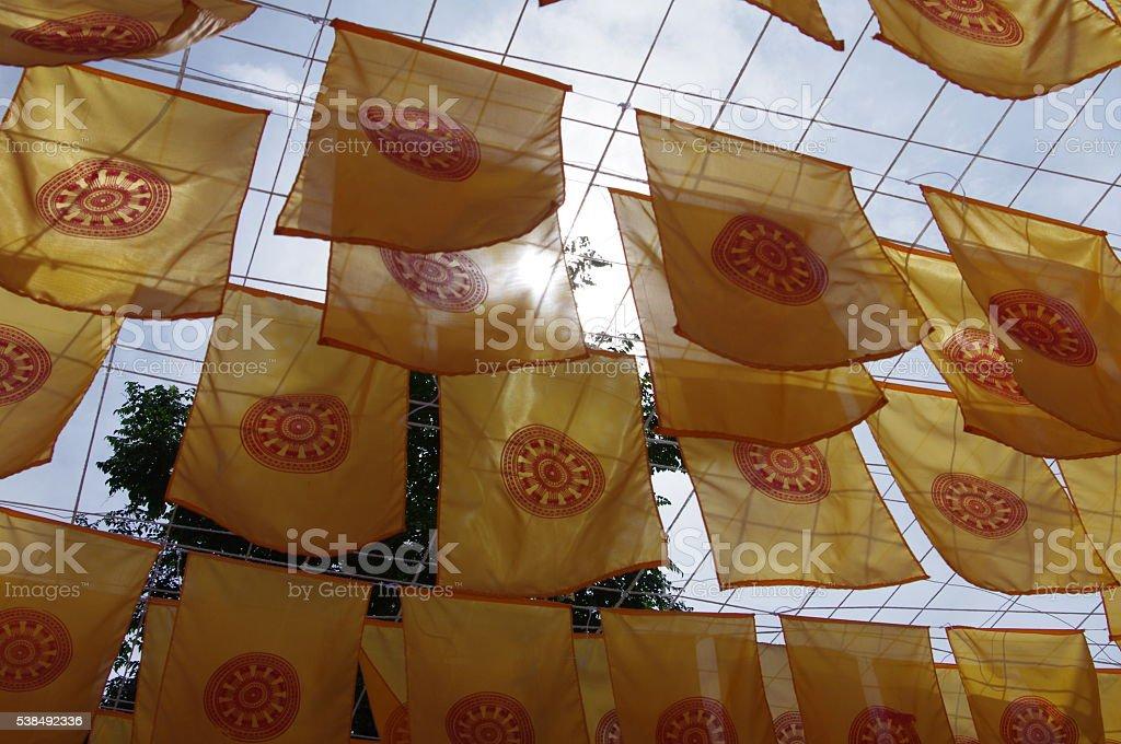 Symbol of buddhism stock photo