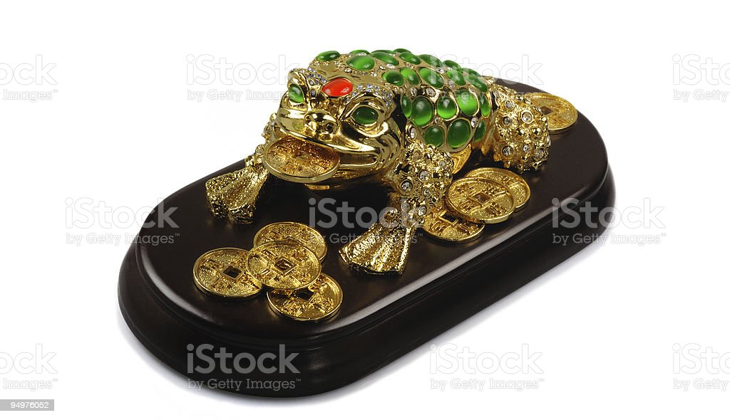 Symbol of Feng-Shui: Three-legged Toad stock photo