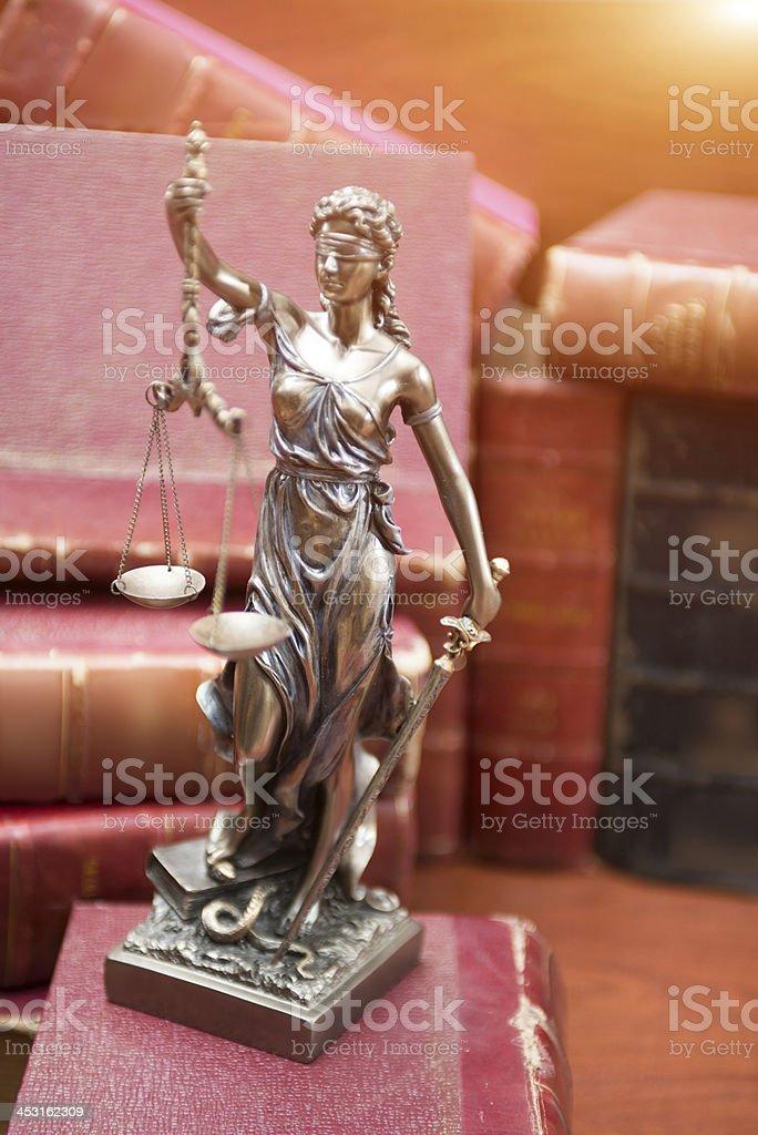 Symbol of justice stock photo