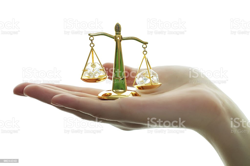 Symbol of justice. Scale royalty-free stock photo