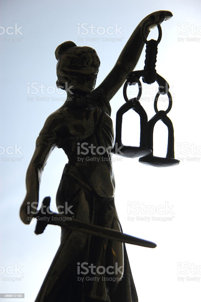 Symbol of law and justice. stock photo