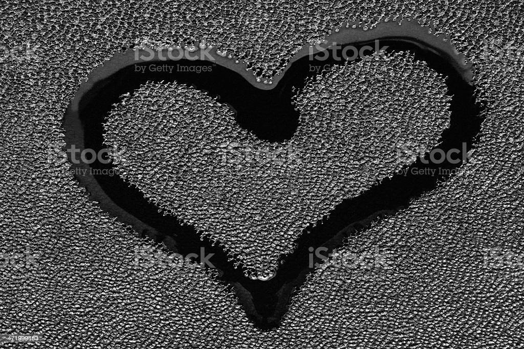 Symbol of love - a heart stock photo