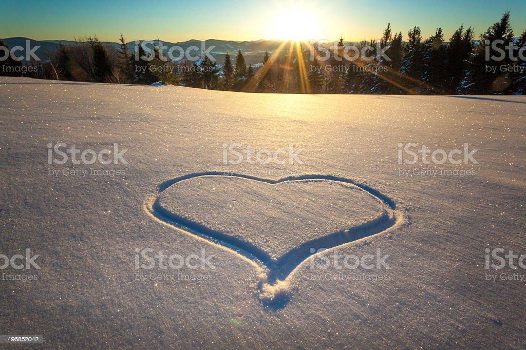 Symbol of love stock photo