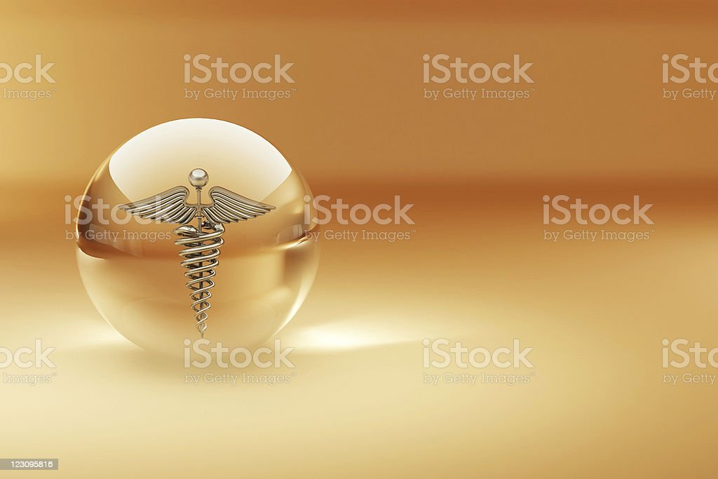 Symbol of medicine. Abstract background stock photo
