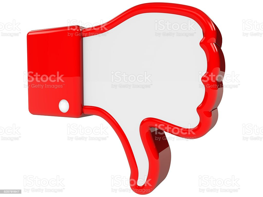 symbol of negative feedback stock photo