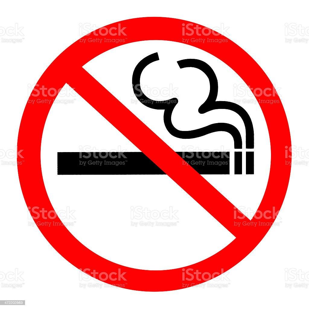 Symbol of No Smoking Zone Sign isolated on White stock photo