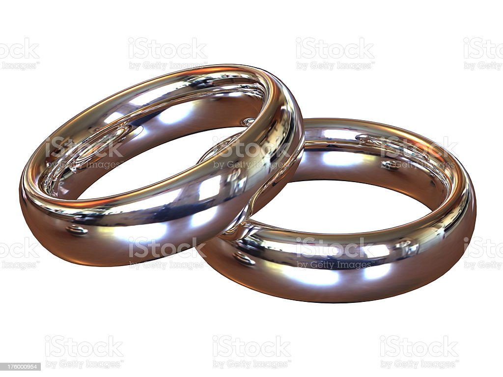 Symbol of our love - pair wedding rings royalty-free stock photo