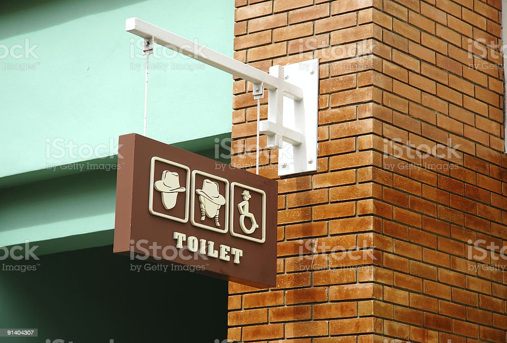 Symbol of restroom royalty-free stock photo