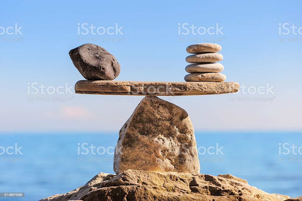 Symbol of scales stock photo