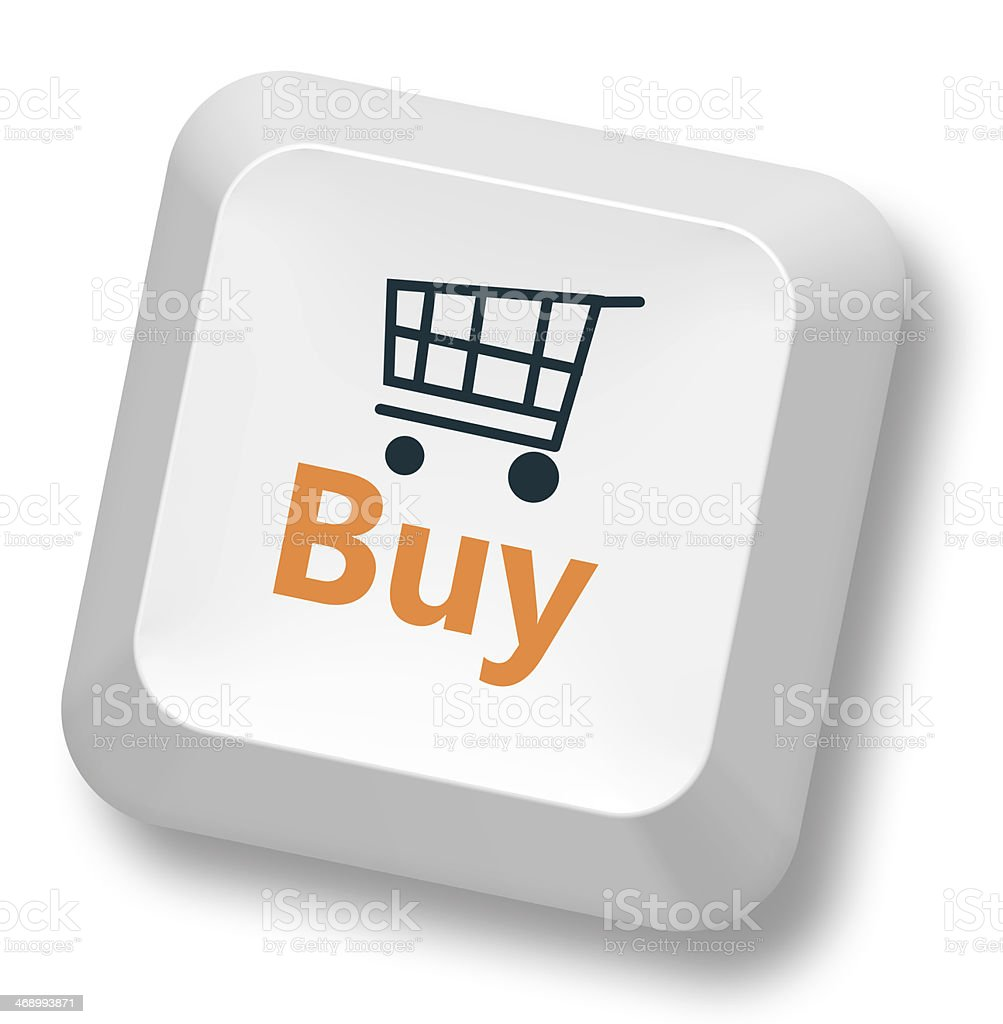 Symbol of shopping cart with buy on button of keyboard stock photo