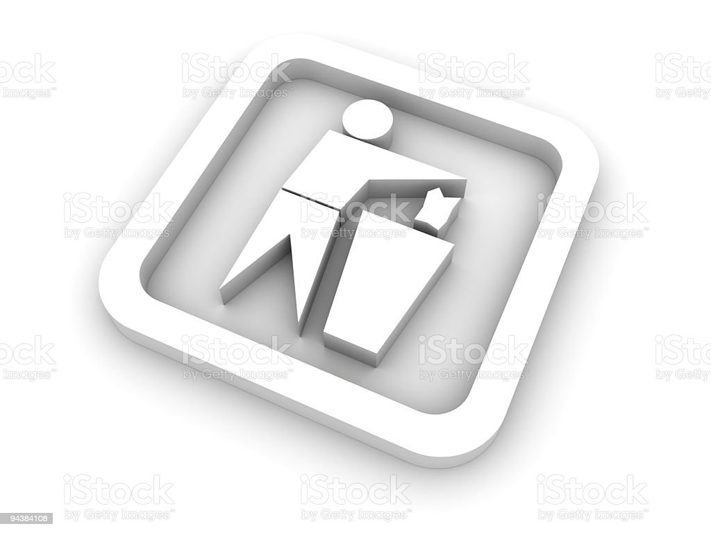 Symbol of single application stock photo