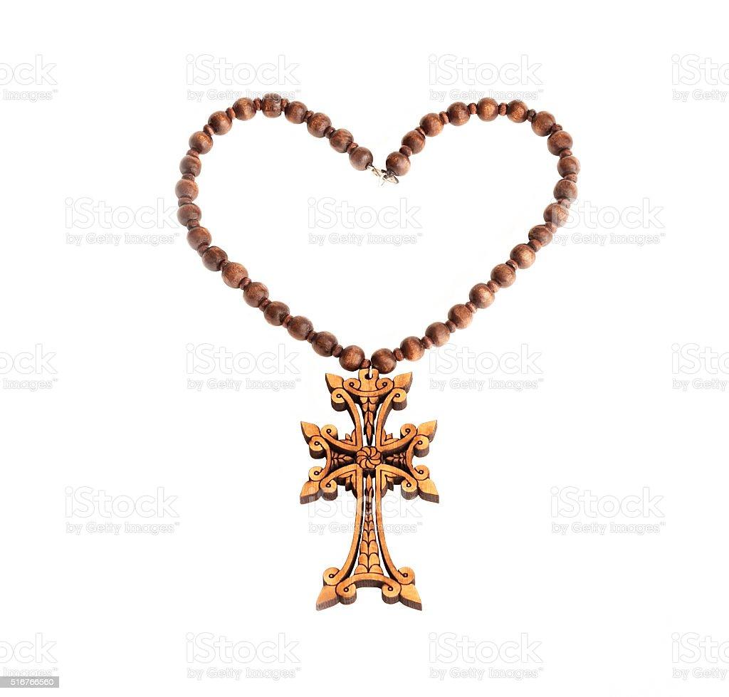 Symbol of the Armenian apostolic church stock photo
