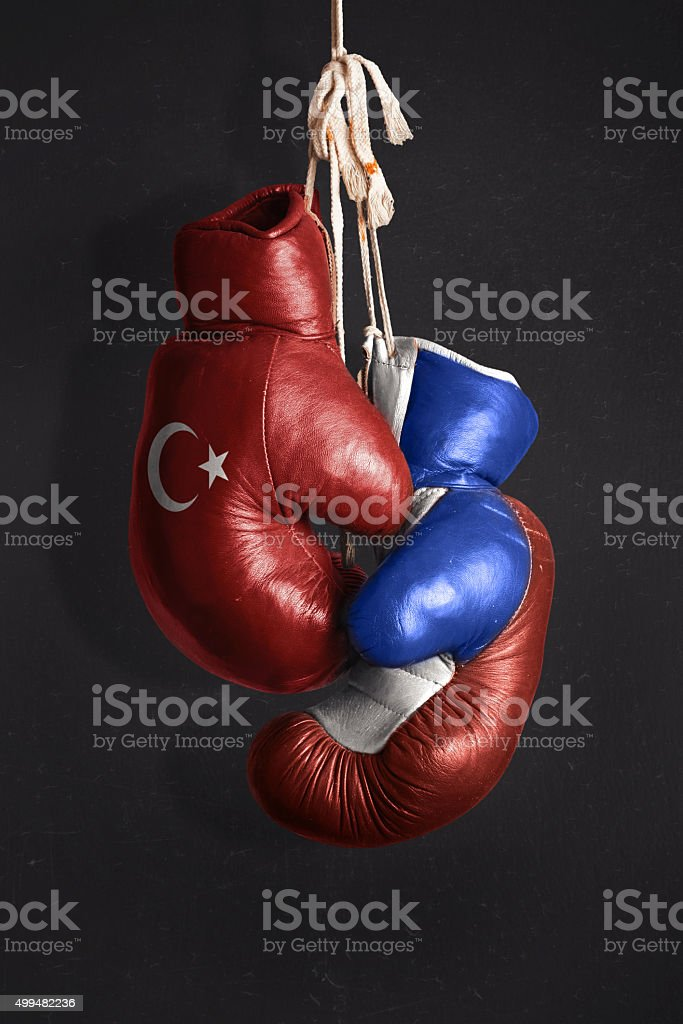 Symbol of the Crisis between Turkey and Russia stock photo