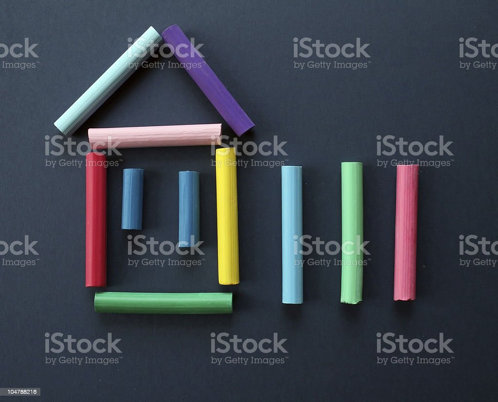 Symbol of the house. royalty-free stock photo