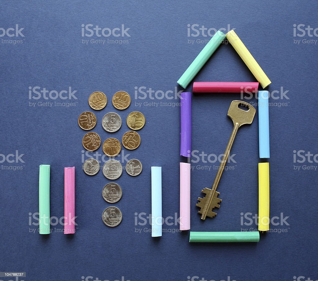 Symbol of the new house. royalty-free stock photo