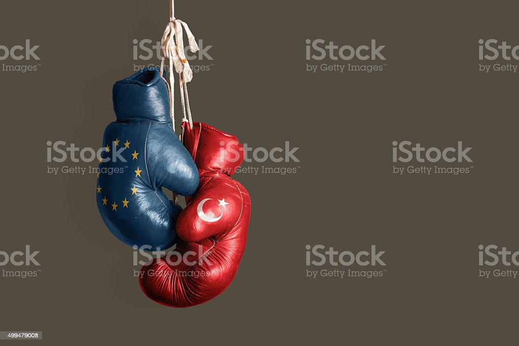 Symbol of the Politics between Turkey and EU stock photo