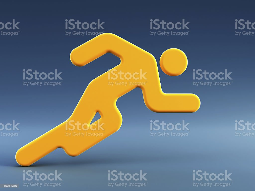 symbol of the running man royalty-free stock photo