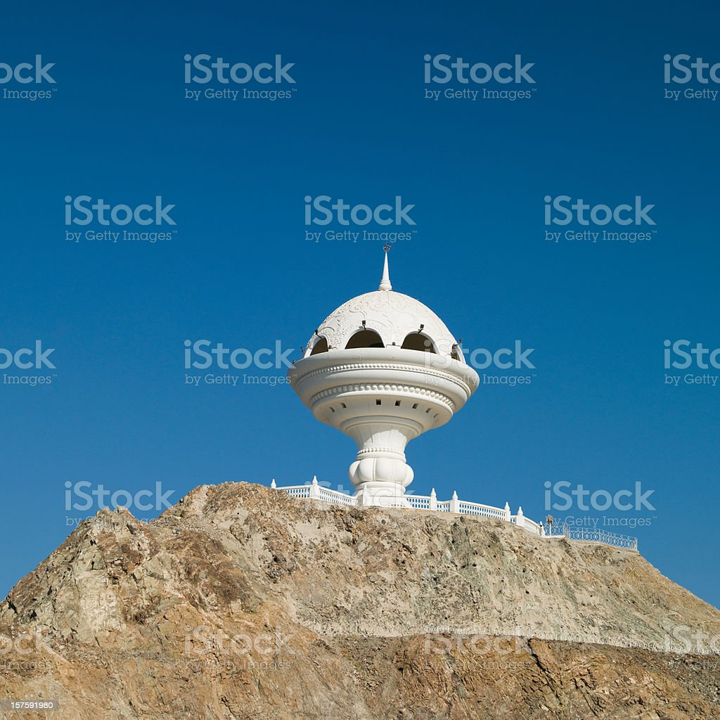 Symbol of the Sultanate Oman Incense Burner Muscat Muttrah stock photo