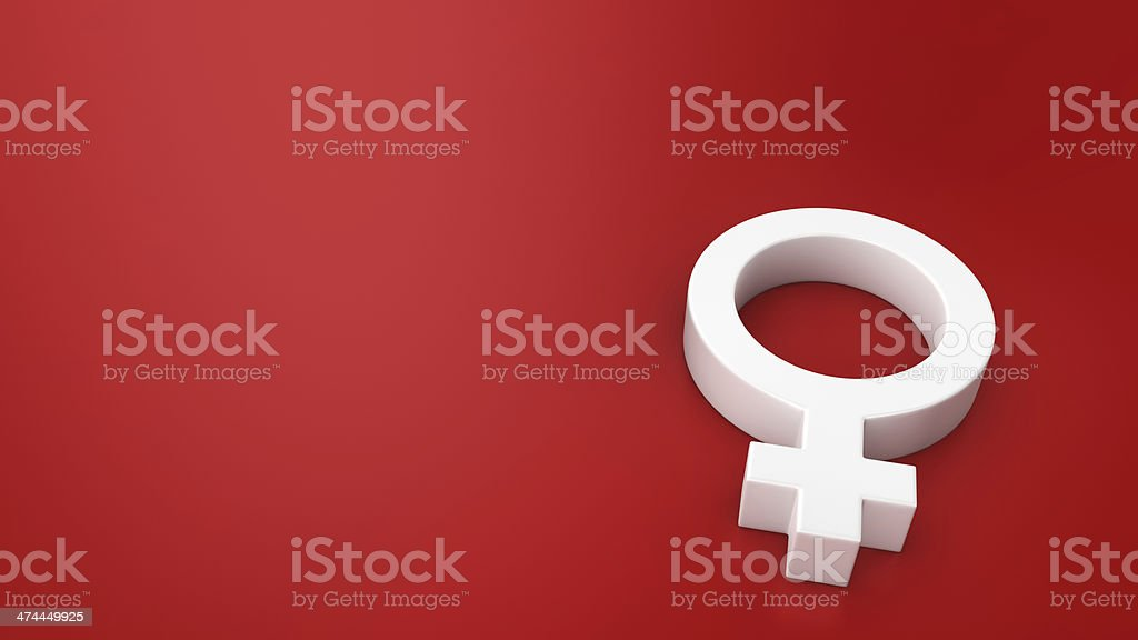 Symbol of Venus on the red royalty-free stock photo