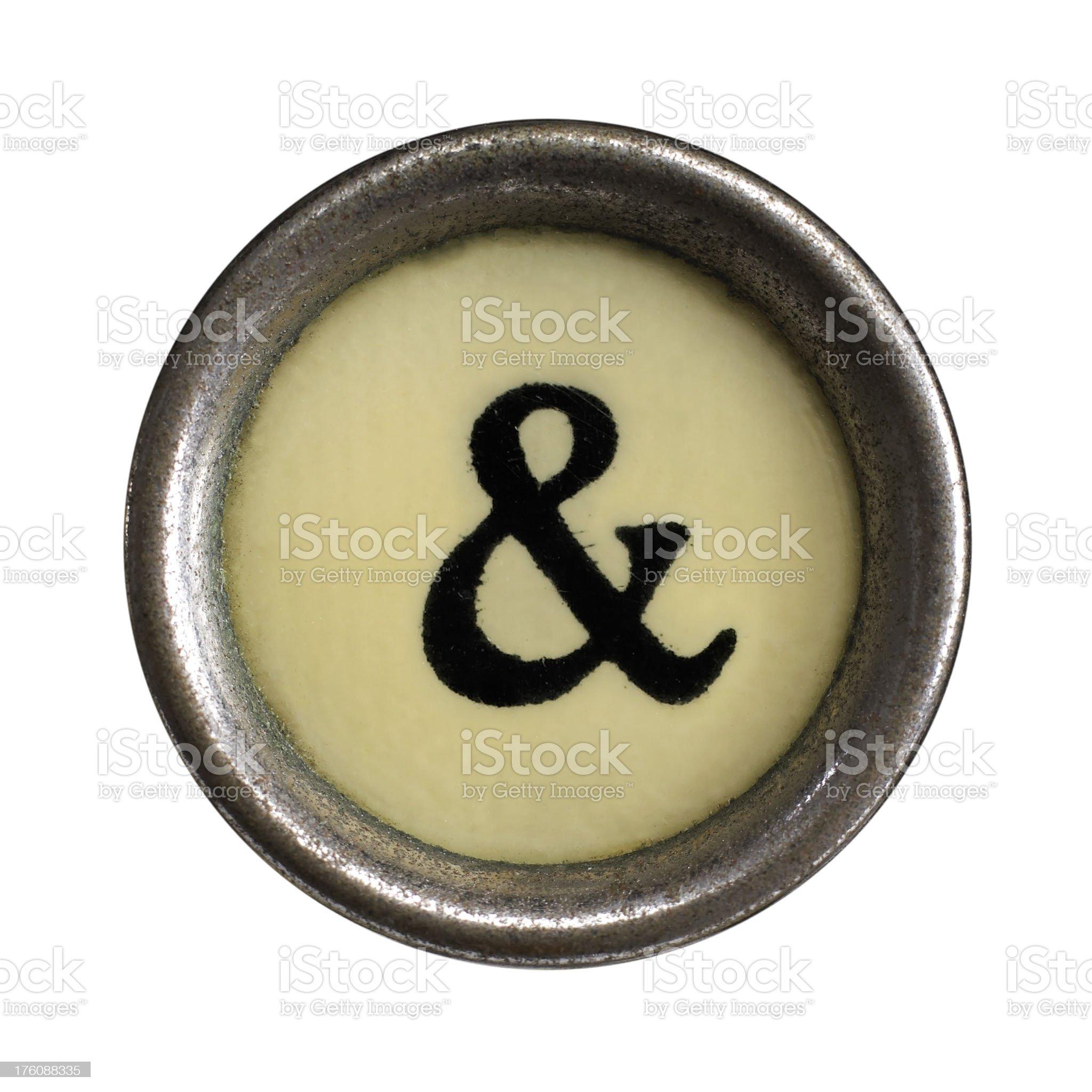 '&' symbol royalty-free stock photo
