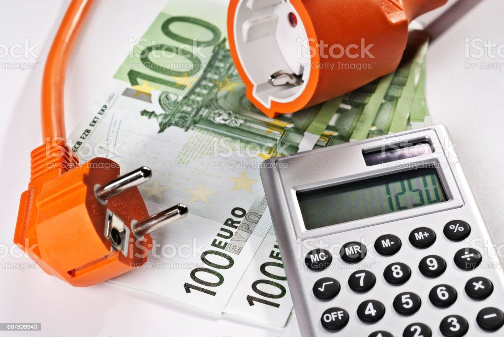 Symbolfoto hohe Stromkosten stock photo