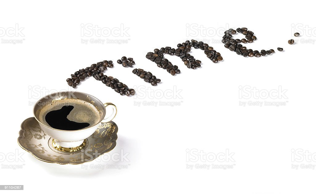 symbolic coffee time royalty-free stock photo