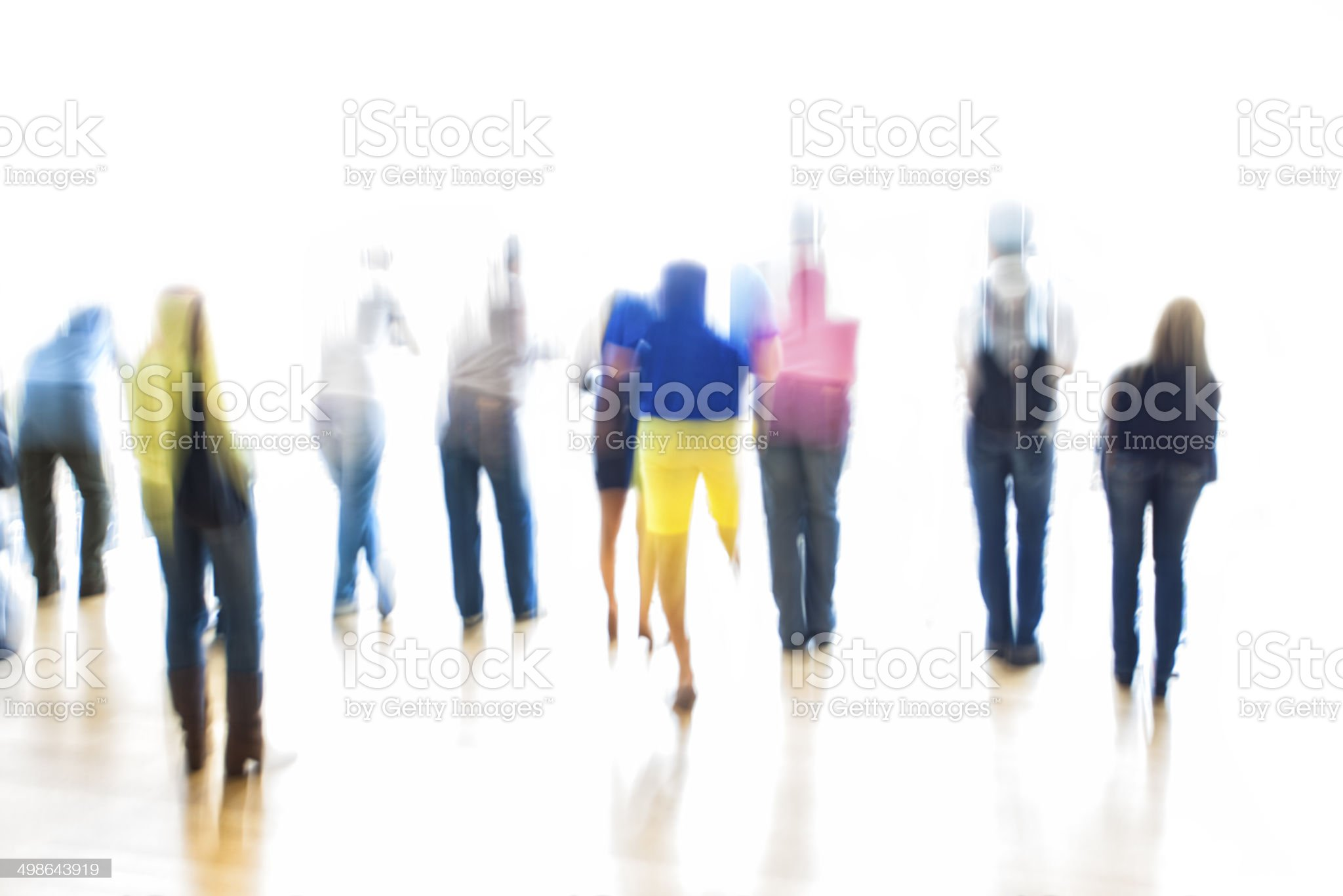 Symbolic, Generic, Silhouettes of People royalty-free stock photo