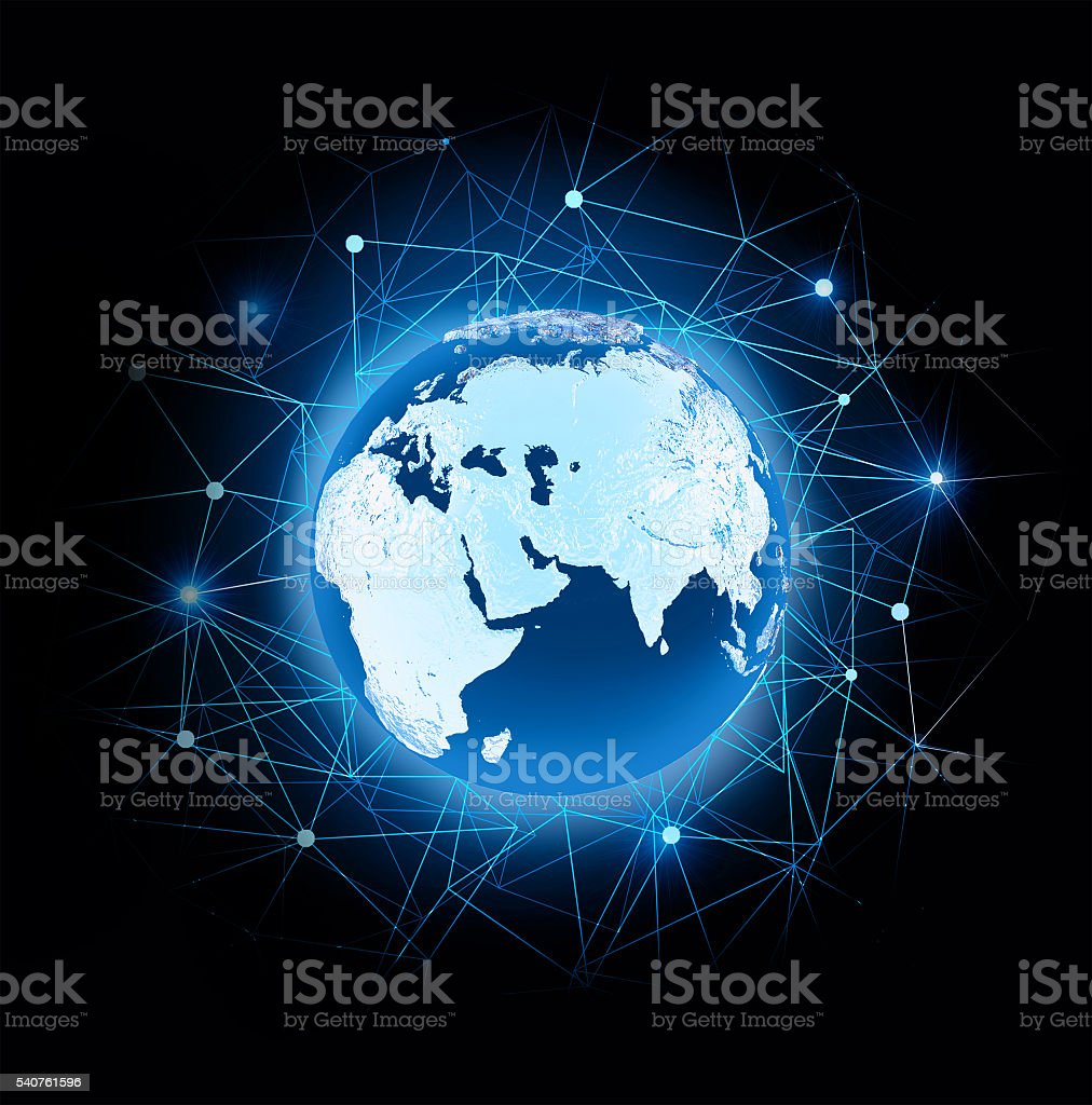 Symbolic planet Earth stock photo