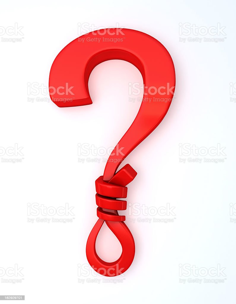 Symbolical Question Mark stock photo