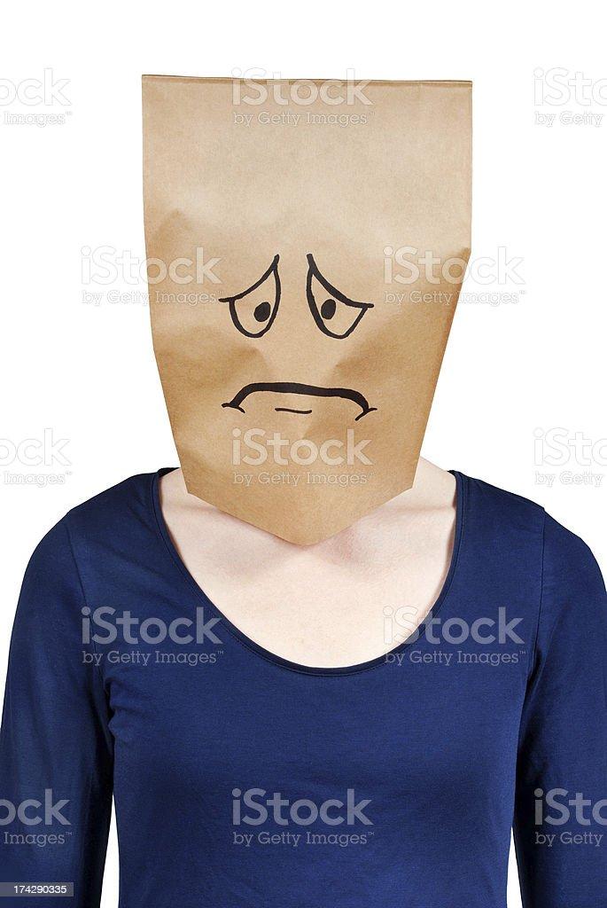 symbolized sadness stock photo