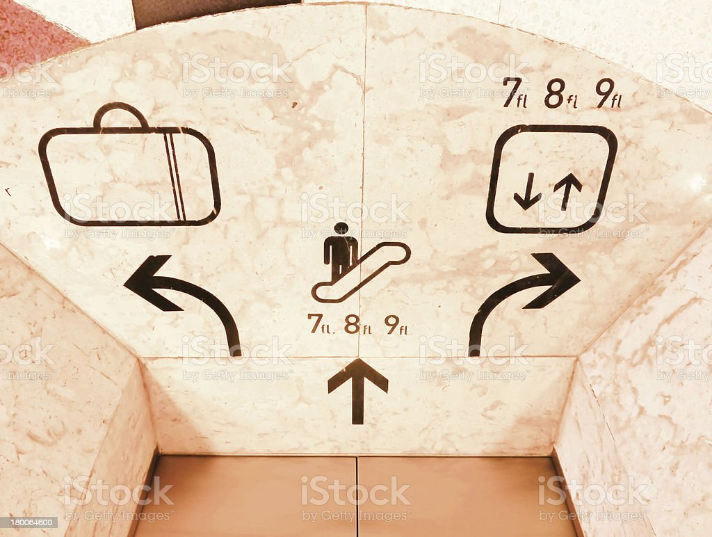 Symbols elevator royalty-free stock photo