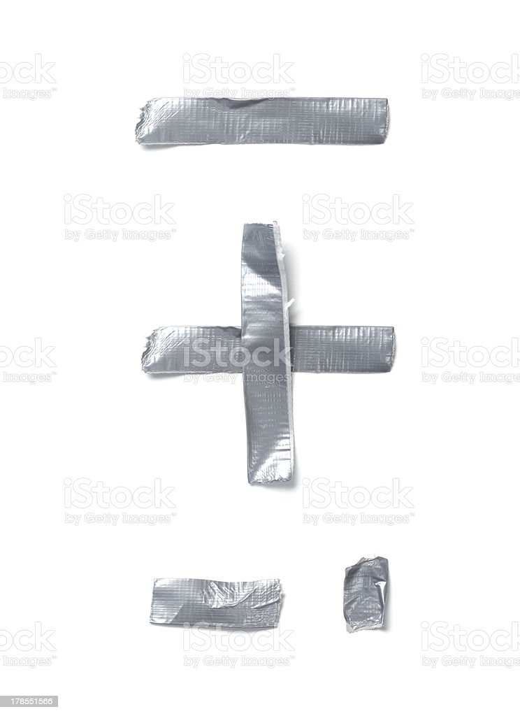 Symbols made out of tape royalty-free stock photo