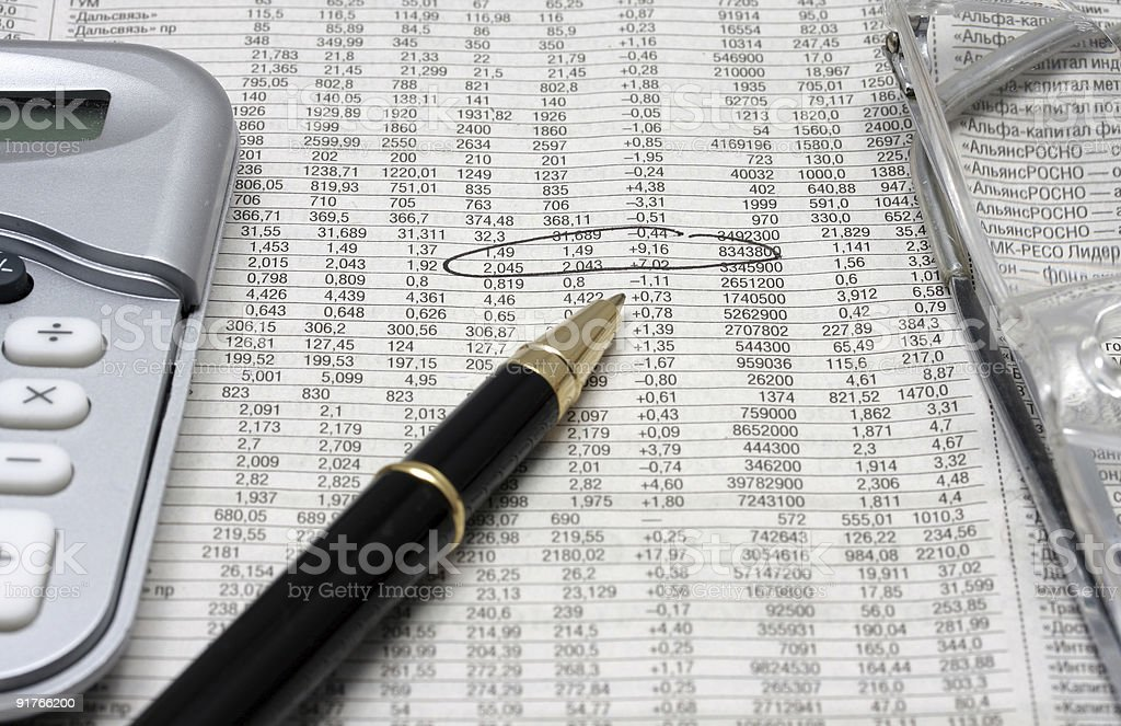 Symbols of financial crisis royalty-free stock photo