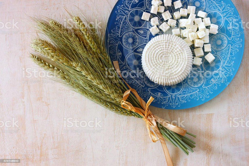 Symbols of jewish holiday - Shavuot stock photo
