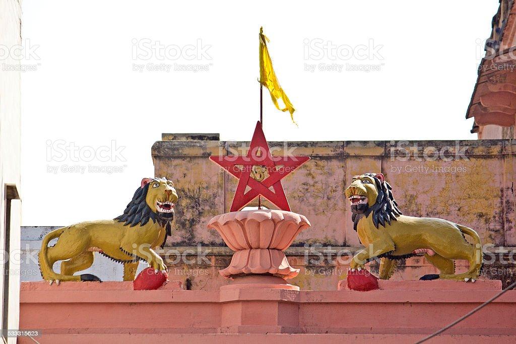 Symbols of the Goddess Katyayani stock photo