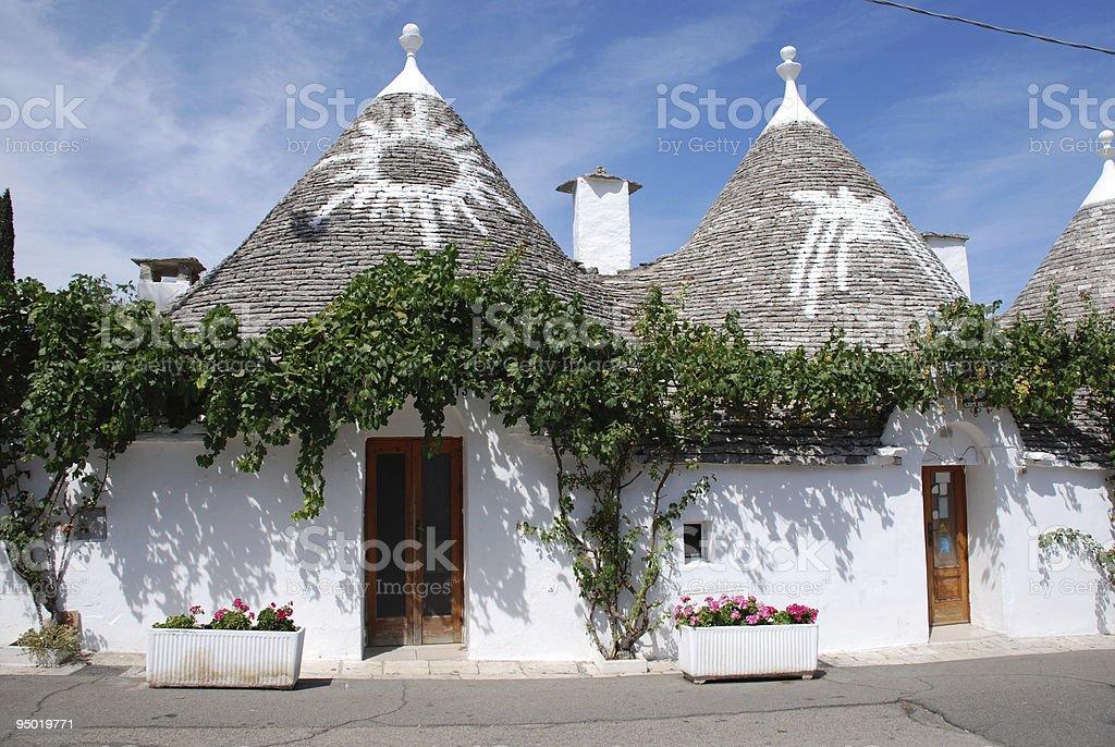 Symbols on Trulli Roofs, Puglia stock photo