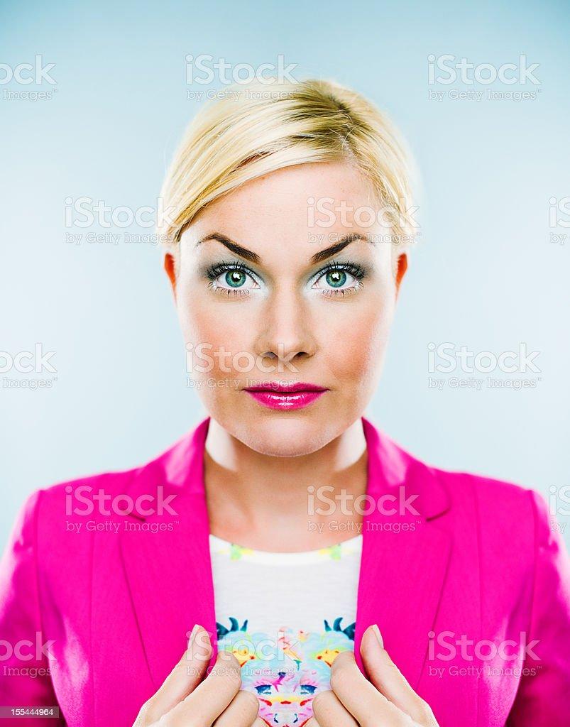 Symetric portrait royalty-free stock photo