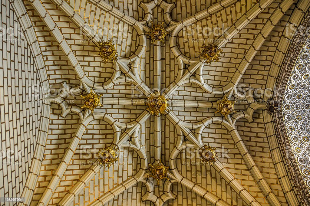 Symetrical ceiling pattern and design stock photo