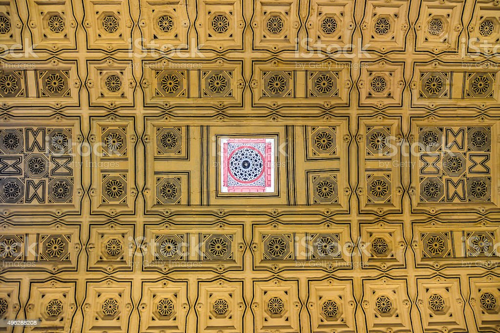Symetrical ceiling pattern and design - Seville, Spain stock photo