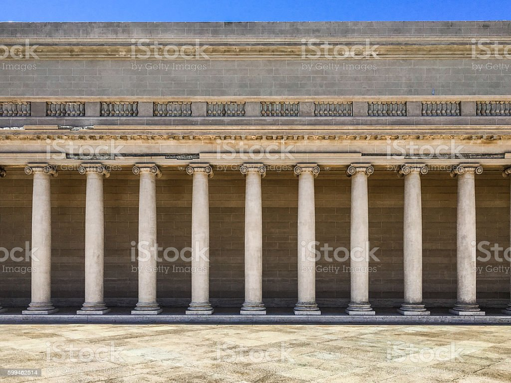 Symetrical columns stock photo