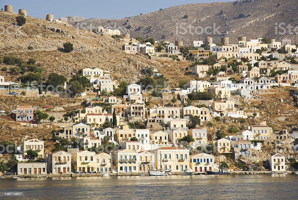 Symi (Simi) island, Grecja zbiór zdjęć royalty-free