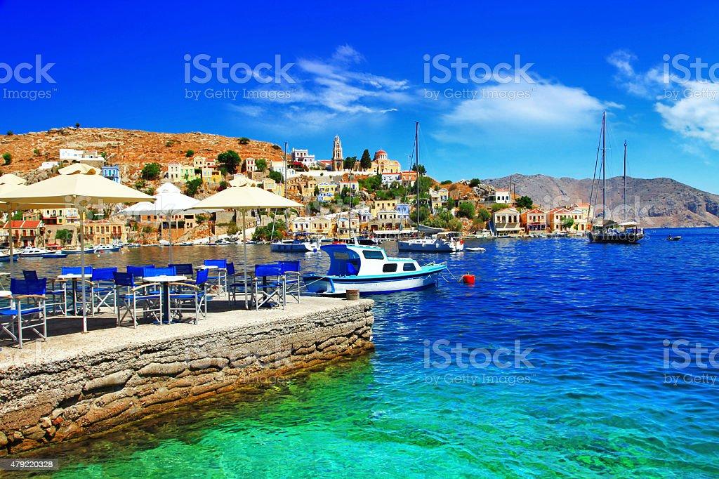 Symi Island,Dodecanes,Greece. stock photo