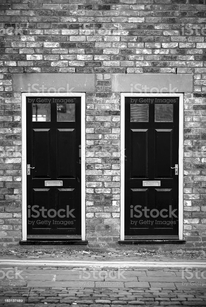 Symmetric doors in Liverpool royalty-free stock photo