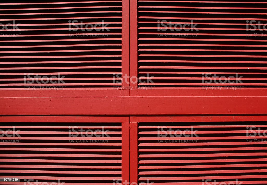 Symmetric Red Louvre Vents royalty-free stock photo