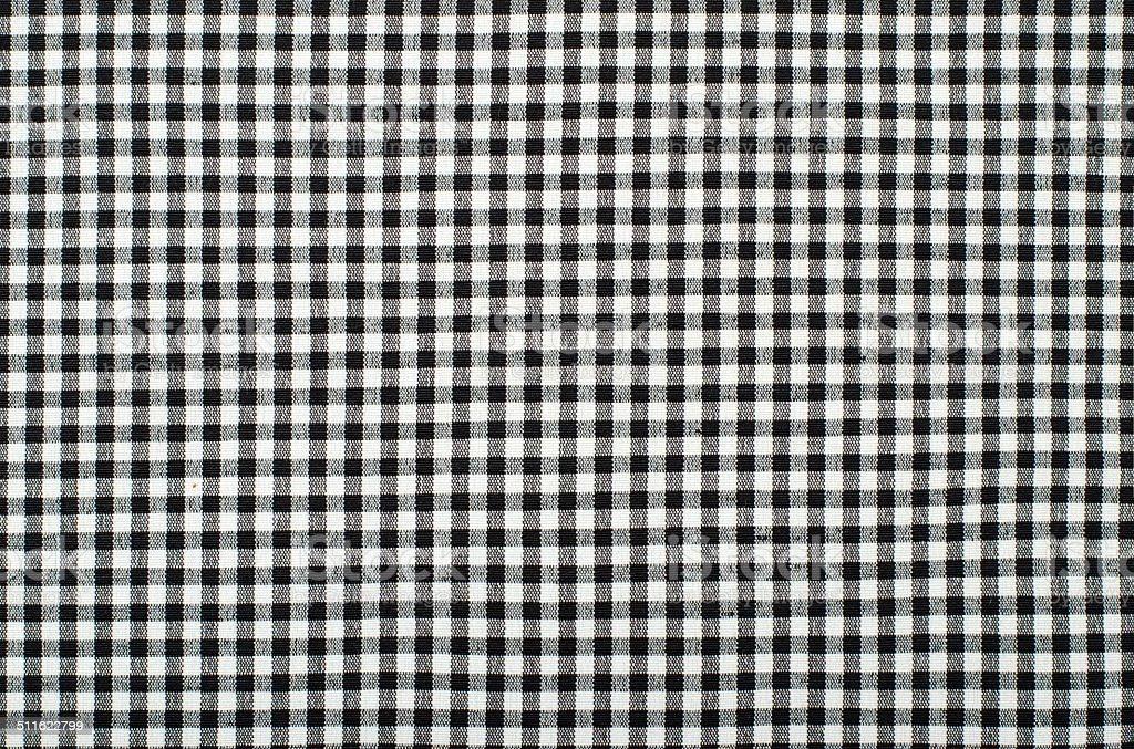 Symmetric square check tablecloth pattern. stock photo