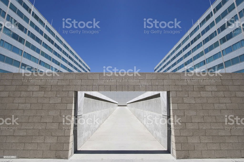 Symmetrical Architectural archway royalty-free stock photo