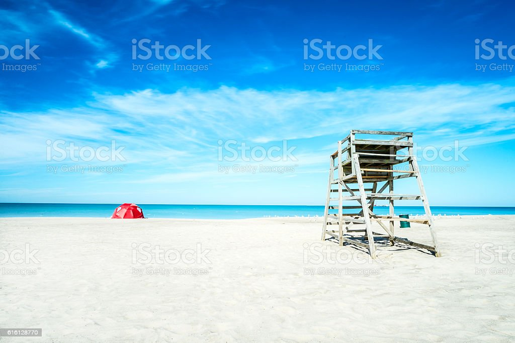 Symmetrical beach stock photo