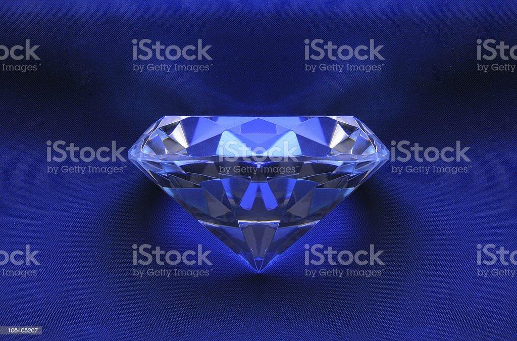 Symmetrical Blue Diamond on Satin royalty-free stock photo
